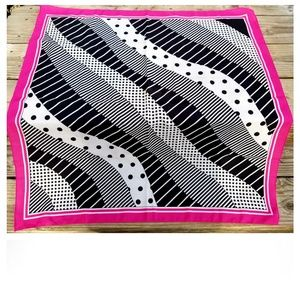 Vintage Mod Pink, Black, & White Scarf